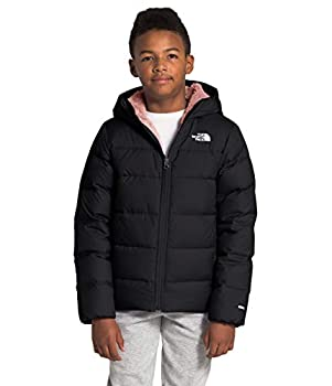 The North Face Youth Moondoggy Hoodie TNF Black/Pink Clay S