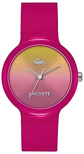 Lacoste Damen-Armbanduhr GOA Analog Quarz Silikon pink 2020078