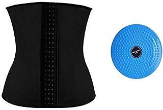 Slimming Corset Black, XXL With Waist Twisting Disc Board Blue