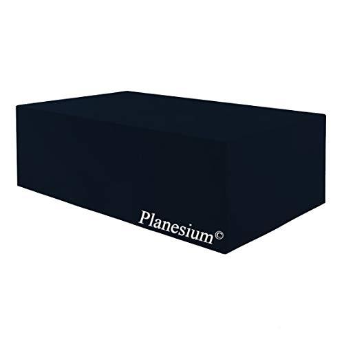 Planesium Premium Funda de Muebles de Jardín Mesa Protectora Cubierta Impermeable Tela Oxford Resistente al Desgarro Negro 240cm x 140cm x 90cm