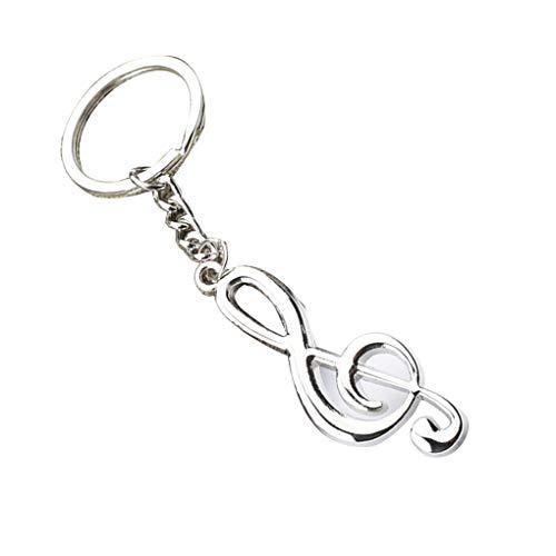 Conijiwadi Music Notation Schlüsselanhänger Auto-Metallschlüsselanhänger Musik-Symbol Schlüsselanhänger Handtaschen-Geldbeutel-Anhänger Schlüsselanhänger