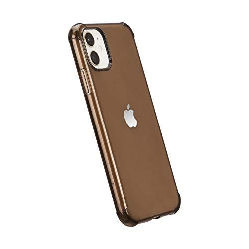 Amazon Basics - Cover per iPhone 11, in TPU (trasparente nero), modello trasparente, protettiva e antigraffio