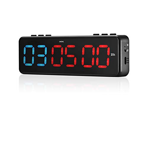 TELAM Mini Fitness Timer LED, Programmable Gym Intervall-Timer Training Intervall mit APP Bluetooth für HIIT Crossfit, Magnetisch Stoppuhr-Timer Stoppuhr Home Fitness Workouts (Blue)