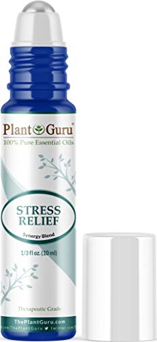 Stress Relief Essential Oil Blend Roll On 10 ml 100% Pure Pre-Diluted Therapeutic Grade for Aromatherapy Anxiety, Depression, Relaxation, Boost Mood, Uplifting, Calming
