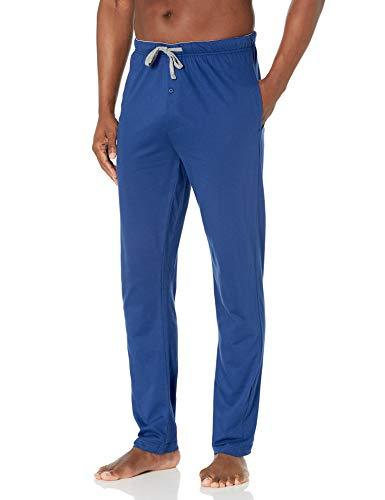 Hanes Men's Solid Knit Sleep Pant, Blue, Large