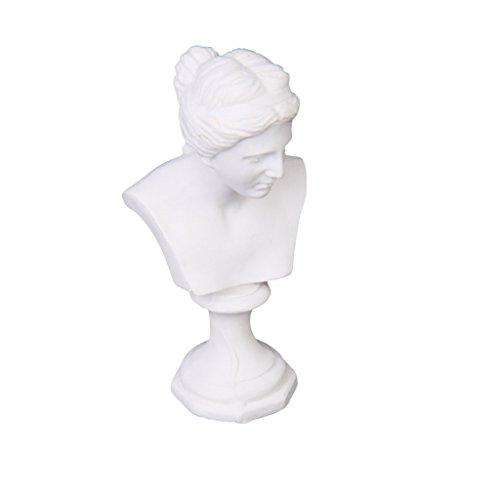 Dcolor Maison de Poupee Miniature Statue Venus Buste Sculpture Blanc