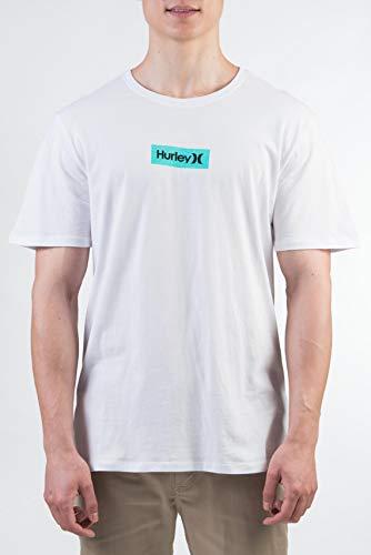 Hurley Herren M O&O S Box S/S Tee T-Shirt, White/(Wolf Grey), M