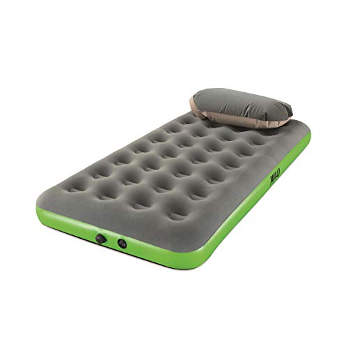 Pavillo Roll & Relax Einzelbett, Kissen-/Kompressionspumpe, 188x99x22 cm Luftbett, Andere, grau/grün, 188 x 99 x 22 cm, 4