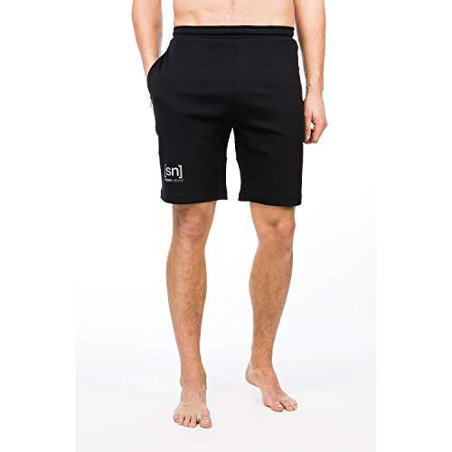 super.natural Lockere Herren Shorts, Mit Merinowolle, M MOVEMENT SHORTS, Größe: XL, Farbe: Schwarz
