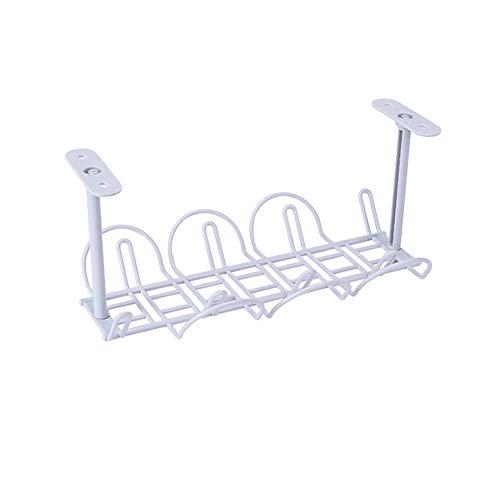 Etiger Kabelführungsfach, unter dem Schreibtisch Kabelmanagementfach Kabelorganisator für das Kabelmanagement, Kabelkabel für Schreibtische, Büros und Küchen