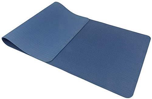 NDYD Mats de Yoga para Ejercicios, Resistente al desgarro, Muy Grueso, Muy Grueso, con Correas o Deportes ecológicos (Color: Azul Oscuro) DSB