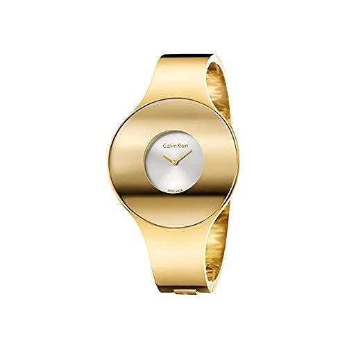 Calvin Klein Damen Analog Quarz Uhr mit Edelstahl Armband K8C2M516