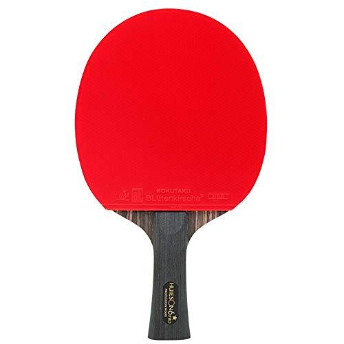 Lerten Bate de Tenis de Mesa,Palas de Ping Pong Profesional de 6 Estrellas Rebote RáPido Excelente Control Y CóModo para Jugar en Interiores Y Exteriores/A/mango largo