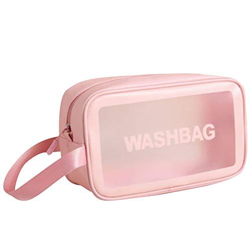 ZHENGJIU Bolsa de maquillaje para bolso, bolsa de cosméticos impermeable con cremallera, bolsa de viaje multifuncional para almacenamiento de cosméticos para mujeres y niñas, bolsa de aseo de viaje
