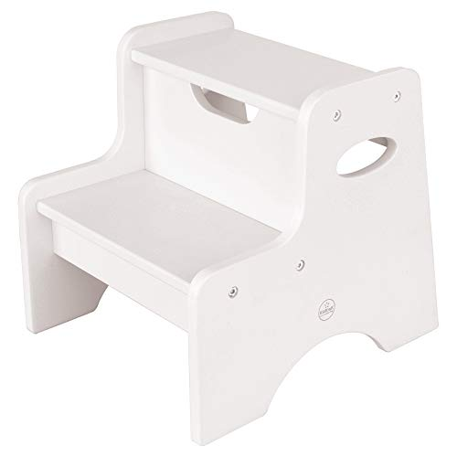 KidKraft Wooden Two Step Children#039s Stool with Handles White Model:15501