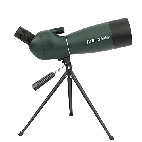 JHBOX Spotting Scopes 20-60x60, Hunting Monocular Telescope for Shooting Targets, Adults Astronomy, Bird Watching, Spy Watch, Smartphone, Rifle Scope with Tripod, Gun Accessories for Men Gifts