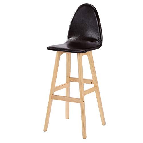 Tabourets Chaise de Bar Chaise de Bar en Bois élégante Chaise Haute personnalisée Haut Chaise de Bar Avant de Restaurant Rotation à 360 ° (Color : Black)
