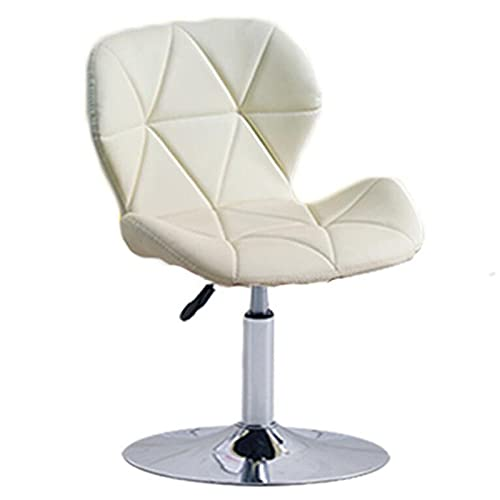 CHLDDHC 360 Degree Swivel Bar Stools,Adjustable Height Leather Modern Barstools With Back/Pu Seat, Extremely Comfy Bar Stool,Multi-Color Optional,40-55 Cm