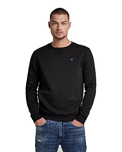 G-STAR RAW Herren Sweatshirt Premium Core, Schwarz, XL