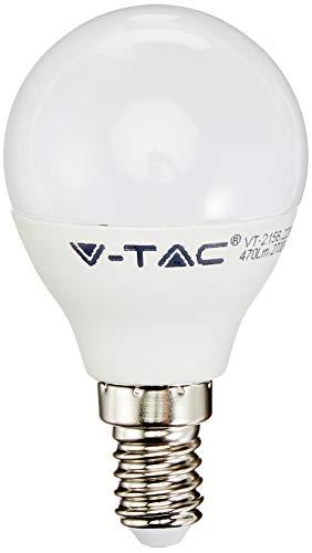 Juego de 3 Bombillas LED V-Tac E14 VT-2156 Paquete Ahorro Vela Mini Globo Esférico Oliva Sky (7357-7358-7359) (Blanco Cálido)