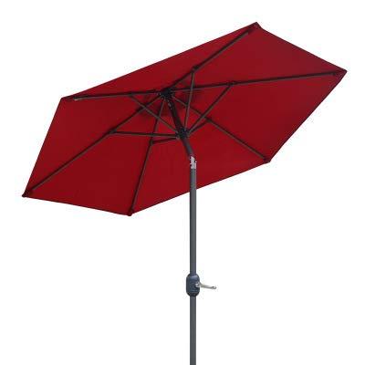 2 meter Outdoor Parasol Rechte Parasol UV Bescherming Tafel En Stoelen Koffie Bar Outdoor zon Parasol Terras Balkon Strand Paraplu