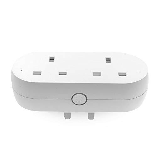 yjll Smart Plug WiFi Mini Outlet afstandsbediening energiebewaking timerfunctie compatibel met Alexa Echo Google-startpagina Geen hub nodig
