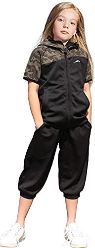 子供服 ジャージ キッズ ジュニア 男の子 女の子 上下セット 半袖 パーカー 吸汗 速乾DRY トレーニングウェア 9174S 迷彩カーキ 130cm