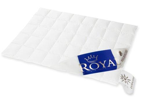 Hanskruchen Royal Luxus Daunendecke, Extra Leicht, 100{0aabdab605616f776d4c676ee24f6ae420860e1b8061d875ca0c3facfe78401f} Gänseflaum, 135 x 200 cm