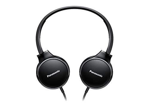 Panasonic RP-HF300ME-K On-Ear Kopfhörer (Mikrofon, Controller, zusammenfaltbar, 10-25.000 Hz, 1,2 m Flachbandkabel) schwarz