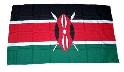 Fahne / Stockflagge Kenia 30 x 45 cm Flagge