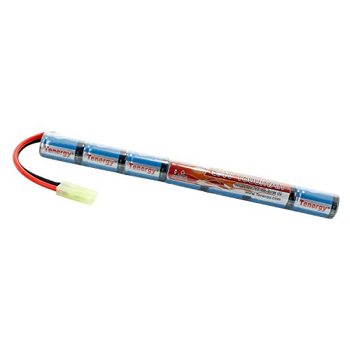 Tenergy Airsoft Battery 8.4V 1600mAh NiMH Stick Battery High Performance Stick Style Batteries w/ Mini Tamiya Connector, Replacement Battery for Airsoft Rifle AEG Guns AK47 CYMA RPK PKM