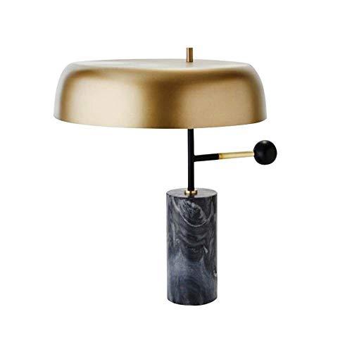 Damai Después De La Escandinava Estudio Dormitorio Lámpara Creativa del Diseñador Retro Salón 43x45cm Mármol Cama Moderna Lámpara De Mesa Minimalista Estadounidense