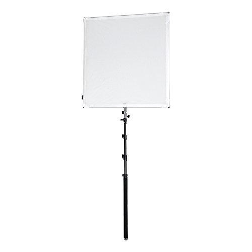 Pro Studio Solutions 90cm x 90cm (35.5in x 35.5in) Boom Sun Scrim - Collapsible Frame Diffusion & Silver/White Reflector Kit with Boom Handle and Carry Bag