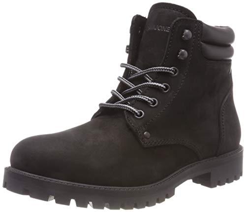 JACK & JONES Jfwstoke Nubuck Boot Mono Noos, Botas Clasicas para Hombre, Negro (Black Black), 41 EU
