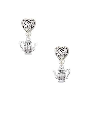 Tea Pot - Celtic Heart Earrings