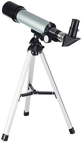 Soul hill Reizen Telescoop Astronomische Telescoop Kinderen, 360 / 50Mm Super Clear Telescoop, Draagbare Refractor Telescoop, met Stam, voor Beginners Amateur Astronomen Observatie van de Hemel