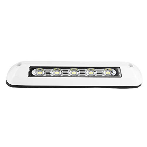 Luces LED interiores para vehículos recreativos, 12V / 24V LED Luz de techo para vehículos recreativos Luces de techo ABS Universal 8W Iluminación de barra de luces para autocaravanas Remolque Autocar