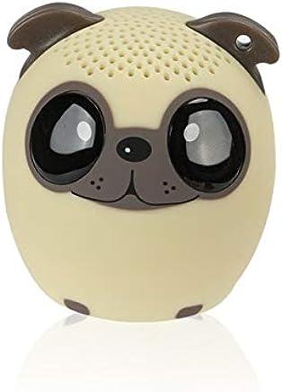 LAKD Mini Animale Bluetooth Altoparlante Portatile Cartone Animato All'aperto Lettore Musicale Zoom in Altoparlante Supporto Altoparlante Selfie Altoparlante Cane Beige - Trova i prezzi più bassi