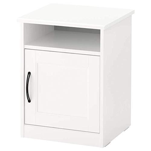 Finchley IKEA SONGESAND Mesita de noche, color blanco 42x40 cm