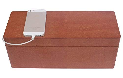 Thanksgiving Christmas Day Best Gifts - abhandicrafts - 13x5 Inches MDF Large Magnetic Brown Cable Box - Cable Management Box Organizer USB Hub Hides All Wires and Surge Protectors