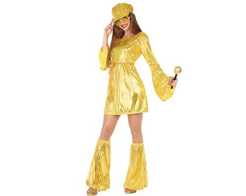 ATOSA disfraz disco dorado mujer adulto XS