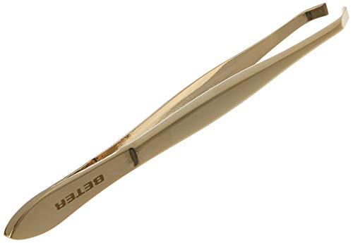 Beter 34062 - Pinzas, punta cangrejo, doradas, 9,3 cm (8412122340629)