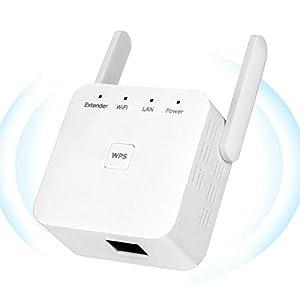 YUIN Amplificador Señal WiFi - 300Mbps Repetidor WiFi,Amplificador WiFi 2.4GHz,Extensor de WiFi,con Ethernet WAN/LAN, WPS, Admite Modo Ap/Repetidor,Compatible con Enrutador Inalámbrico