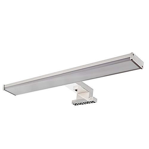 Playboy Ledlamp voor spiegelkast, 30 cm breed, kan aan diverse spiegelkasten en wandplanken worden gemonteerd, ideaal als daglichtvervanging, make-upklemp, verlichting, badlamp, chroomkleurig
