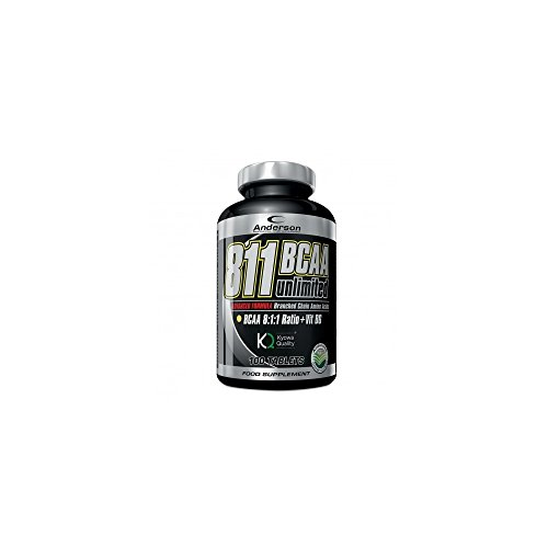 Anderson 811 BCAA Unlimited Kyowa Supplement Amino Acids Branched 811 with Vitamin B6-100 Tablets of 1 g