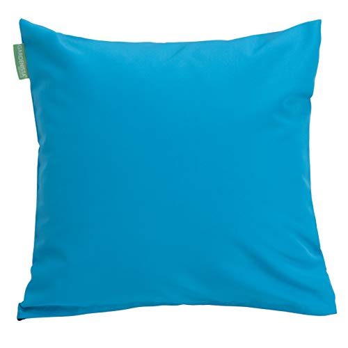 Gardenista | Premium Water Resistant Outdoor Hollowfibre Filled 18' Garden Furniture Scatter Cushion (Turquoise)