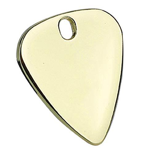 Qioniky Púa de Guitarra de Metal Suave y cómoda, púa de Guitarra Duradera, para Instrumentos Musicales, Guitarra(Gold)