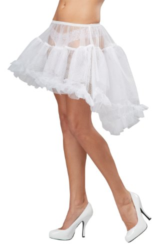 California Costumes Women's Eye Candy - Hi - Lo Pettiskirt Adult, White, Large/X-Large