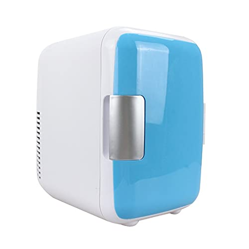 YY 4L Frigorífico para refrigerador Coche frío y cálido Frigorífico Pequeño Home Dual-Use Pequeño Hogar Nevera (Color : Blue(car))
