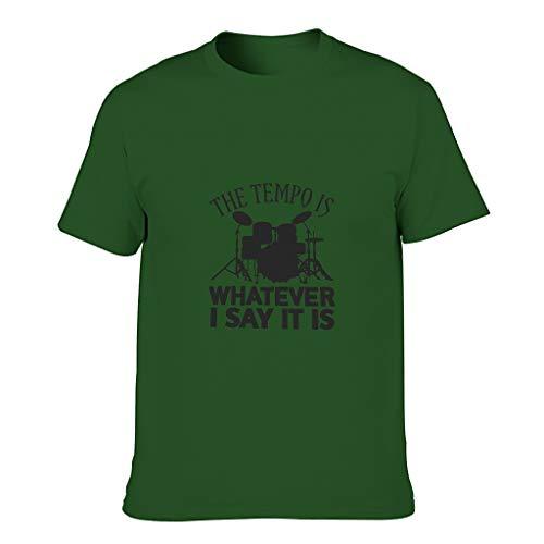 YCNJJB Camiseta de algodón para hombre The Tempo is Whatever I say It is Funny Elegante Diseño de Alfabeto Manga Corta